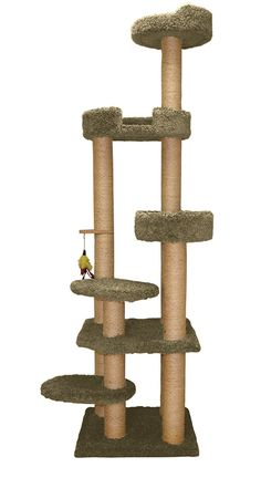 Family Cat Tower with Sky Lounger and Lookout >>> For more information, visit now : Cat Tree and Tower