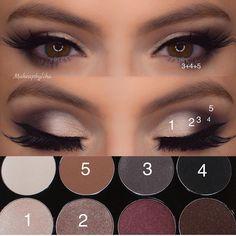 – Kosmetik – - Makeup Tutorial Over 40 Hazel Eye Makeup, Eye Makeup Steps, Hooded Eye Makeup, Hazel Eyes, Smokey Eye Makeup, Everyday Eye Makeup, Makeup Inspo, Makeup Inspiration, Makeup Tips