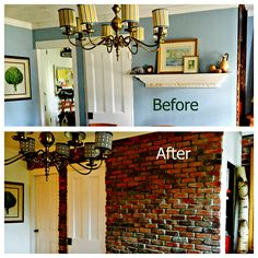 A huge DIY brick wall project that I conquered!!  Head over to the blog to see the video of how I did it!