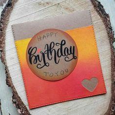 Birthday Card, Lettering, Ink Blending, Crafting, Cardmaking, Cards