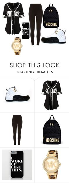 """""""Untitled #2"""" by chardeywindom ❤ liked on Polyvore featuring TAXI, LE3NO, River Island, Moschino, Michael Kors, women's clothing, women, female, woman and misses"""