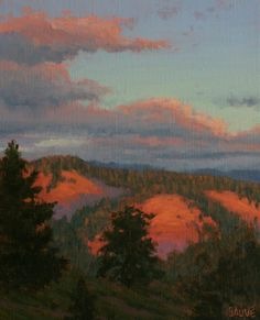 Sunset Glow by Terry Sauve, Oil, 10x8