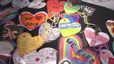 Hearts for Ferguson is a project that was started to show love and support for the children and families of Ferguson. The goal is to create hearts for all 11,000 students in the Ferguson.  Art therapist Susie Dietz McgGaughey shares more in this video....