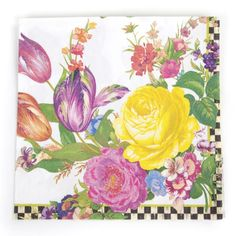 Floral+Paper+Napkins   MacKenzie-Childs   Flower Market White Dinner Paper Napkin ...