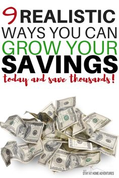 Start growing your savings today with these smart and easy ways that will help you grow your savings by the end of the month!