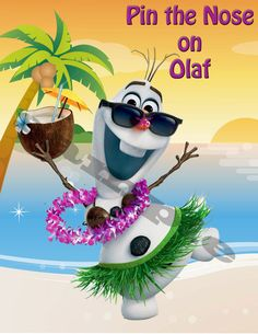 Items similar to Pin the Nose on Olaf Summer Game Olaf Luau Olaf Pool Party Frozen invitation on Etsy Olaf Birthday, Disney Frozen Birthday, Frozen Theme, Summer Birthday, 4th Birthday Parties, Frozen Party, 2nd Birthday, Birthday Ideas, Olaf Summer Party
