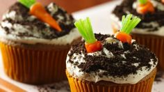 Carrot Cake Cupcakes - 17 Decorative And Delicious Easter Dessert Recipes