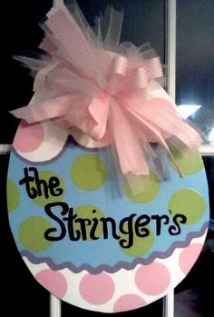 Easter Egg Door Hanger by YellaHouseDesigns on Etsy, $30.00