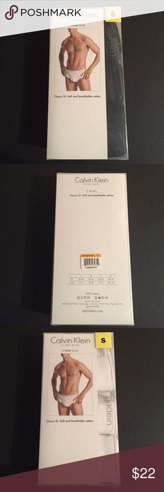 Calvin Klein 3 pack Briefs (S) Brand new in box. Calvin Klein Men underwear briefs. Comes with 3 in one pack. Classic fit. Soft and breathable cotton. Size is small. Colors option is either white or black. Calvin Klein Underwear Underwear & Socks Briefs