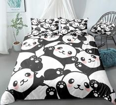 <p>Our uniqueCute Cartoon Panda Bedding Set will brighten up your entire bedroom and elevate your decor to a whole new level. Choose your size and get ready to hear all the compliments from your friends and family. <br> </p> <strong>Specifications: </strong> <ul> <li> <strong>Packing List: </strong> 1* Duvet Cover + (1 or 2)* Pillow Cases </li> <li> <strong>Fabric: </strong> Microfiber </li> &lt Kids Bedding Sets, Duvet Bedding Sets, Panda Quilt, Panda Pillow, Cartoon Panda, Cute Cartoon, Quilt Cover, Blanket Cover, My New Room
