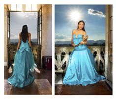 Vestido de la colección pavo real by Obeida Medina