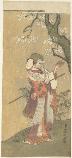 """Artist: Ippitsusai Buncho Title: An Actor in the Fox Dance from the Drama, """"The Thousand Cherry Trees"""" Details: More information... Source: Metropolitan Museum of Art"""