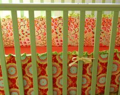 DIY CRIB BUMPER---LOVE