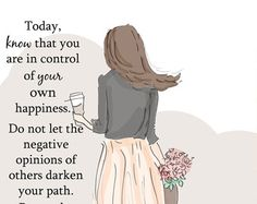 Wall Art for Women - You Are In Control of You Own Happiness- Wall Art Print -  Digital Art Print -  Wall Art -- Print