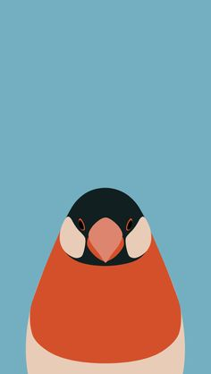 ‎Bird Wallpaper - tori no iro Simple Illustration, Bird Illustration, Digital Illustration, Wallpaper Maker, Bird Wallpaper, Creature Comforts, Simple Colors, Illustrations And Posters, Pattern Art