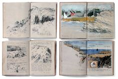 Sketchbook, Ile de Groix, Brittany 1993