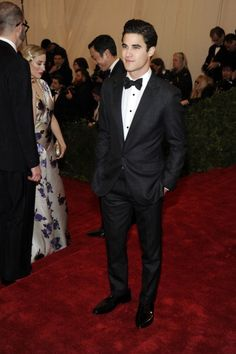 """""""Glee"""" heart throb Darren Criss on the red carpet of the MET Gala in NYC. See full gallery here: http://bit.ly/ISkhB2"""