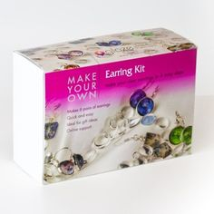 Glass tile earring kit. Everything you need to make up to 5 pairs of earrings. Made on New Zealand