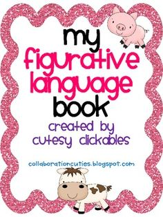 Please check out our blog for more ideas:www.collaborationcuties.blogspot.comThis is a graphic organizer book that students can fill out as they learn the different terms of figurative language.Included in the booklet:similemetaphoridiompersonificationalliterationhyperboleonomatopoeiaYou can always shrink them and make a mini-book!Please leave us feedback and let us know what you think.If you don't already follow us, please click 'follow me' so you'll be updated on more free items!Thanks,Amanda ...