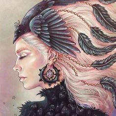 Completamente encantada!!!!! @Regrann from @emmijulin -  #artecomoterapia #arttherapy #coloring #coloriage #colorir #livrodecolorir #hannakarlzon #art #illustration #coloring #coloringbook #sommarnatt #Regrann