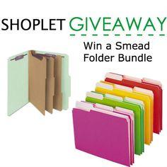 Win a Smead Folder bundle via @shoplet http://blog.shoplet.com/giveaways/win-a-smead-folder-bundle/comment-page-2/#comment-2191109