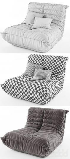 3d модели: Кресла - Ligne Roset TOGO 3