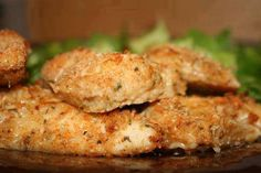 Weight Watchers Parmesan Chicken Cutlets Recipe Main Dishes with parmesan cheese, Italian seasoned breadcrumbs, paprika, dried parsley, garlic powder, ground pepper, boneless skinless chicken breasts