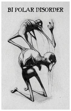 dark art any means necessary inktober illness poster print bipolar disorder Scary Drawings, Dark Art Drawings, Art Drawings Sketches, Creepy Sketches, Drawings With Meaning, Art With Meaning, Arte Horror, Horror Art, Horror Drawing