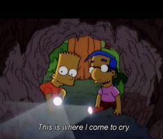 Les simpson c un ptn de mood Simpsons Quotes, Cartoon Quotes, The Simpsons, Sad Wallpaper, Wallpaper Quotes, Iphone Wallpaper, Sutra, Cheer Up, Mood Pics