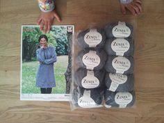 Strikkeopskrift og garn til denne skønne strikkjole er indkøbt. Design af Ninette Hartwich og garn er Zenta fra Permin