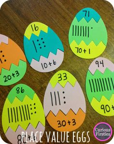 Egg Puzzles: Math Review--just a quick and easy idea for a center
