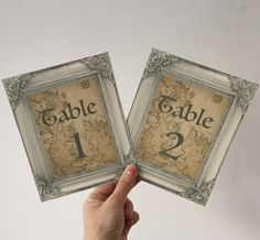 Game Of Thrones Wedding Table Number Cards - Westeros Map - GOT Theme wedding In Etsy shop RebeccasLeaves