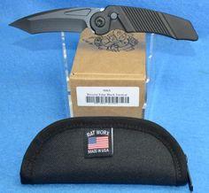 RAT Worx MRX Full Sized Chain Drive Knife Lanyard Cut Handle Reverse-Edge Blade Black 02301 | RAT Worx USA