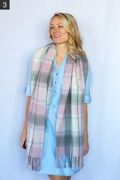 My 9 Favorite (Super Easy) Ways to Tie a Scarf - Style by Joules How To Fold Scarf, How To Wear A Blanket Scarf, Ways To Wear A Scarf, Diy Scarf, Scarf Dress, How To Wear Scarves, Ways To Tie Scarves, Scarf Organization, Scarf Knots