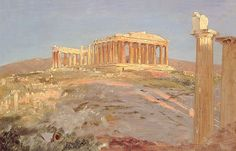 Parthenon 1869 Greeting Card for Sale by Church Frederic Edwin Connecticut, Frederic Church, Patrick Nagel, Athens Acropolis, Edwin, Hudson River School, Robert Doisneau, Edward Hopper, Alphonse Mucha