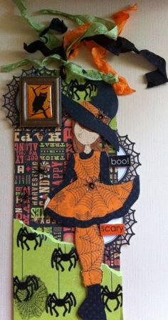 Prima doll tag : Gallery : A Cherry On Top Halloween Paper Crafts, Halloween Tags, Halloween Themes, Fall Halloween, Halloween Decorations, Prima Paper Dolls, Prima Doll Stamps, Halloween Scrapbook, Hand Made Greeting Cards