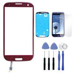 Avant Écran Externe Tactile En Verre Digitizer Remplacement Pour Samsung Galaxy S3 SIII i9300 GT-I9300 Tactile Panle + Adhésif + Film + outils