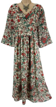 24W 3X SEXY Womens ELEGANT FLORAL PRINT CHIFFON MAXI DRESS Summer PLUS SIZE #JessicaLondon #Maxi #Versatile