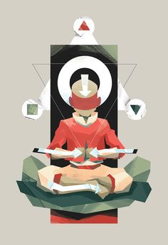 Aang meditating by http://jucarl.com/