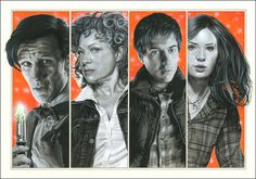 Doctor Who - Family Portrait by caldwellart.deviantart.com on @DeviantArt
