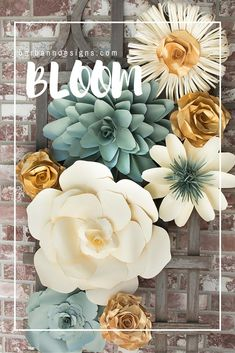 695 best paper flowers for weddings images on pinterest in 2018 gorgeous paper flowers flower wall floral wall paper art wedding decor mightylinksfo