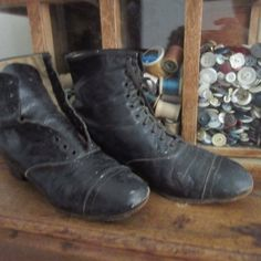 Antique Victorian High Top Boots for Display High Top Boots, Primitive Country, Country Decor, High Tops, Combat Boots, Victorian, Display, Decorating, Antiques