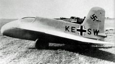 TheMesserschmittMe 163Kometwas a Germanrocket-poweredfighter aircraft. It is the only rocket-powered fighter aircraft ever to have been operational. Test pilotRudy Opitzin 1944 reached 1,123km/h.
