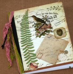 Journal Nature Themed Aged Vintage Style