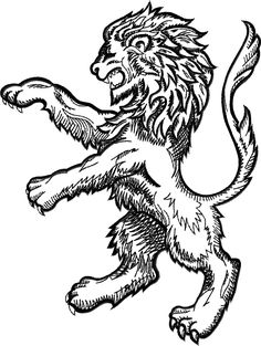 Family Crest Lion Crest Tattoo, Lion Illustration, Medieval Paintings, Lion Design, Eagle Tattoos, Embroidery Alphabet, Japanese Embroidery, Family Crest, Tattoo Sketches