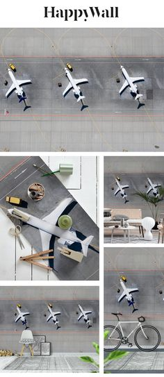 Airplanes wall mural from Happywall #wallmural #happywall #wallpaper #wallmurals #wallpapers
