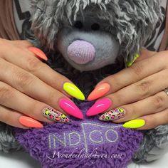 by Daria Michalska Wonderland4U - Indigo Young Team - Follow us on Pinterest. Find more inspiration at www.indigo-nails.com #nailart #nails #indigo #neon #pink