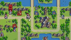 Wargroove is a turn-based strategy game for up to 4 players! Command an army, customize battlefields, and challenge your friends, in this richly detailed return to retro turn-based combat Game Level Design, Game Design, 2d Game Art, Pixel Games, Game Dev, Sprites, Indie Games, Legos, Pixel Art