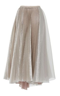 Metallic Pleated Skirt by Dice Kayek