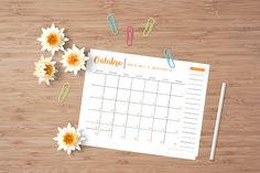 [Freebie] Calendário de Outubro 2016 - Bem Prendada